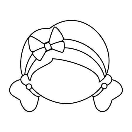 귀여운 만화 소녀 아이콘 벡터 일러스트 그래픽 디자인