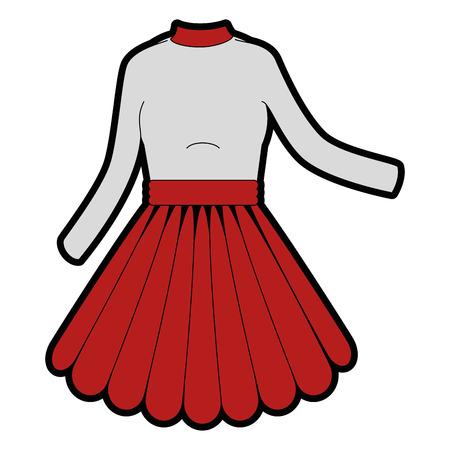 Frauenkleidmodeikonenvektor-Illustrationsgrafikdesign Standard-Bild - 83827469