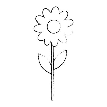 美しいひまわり園芸アイコン ベクトル イラスト グラフィック デザイン