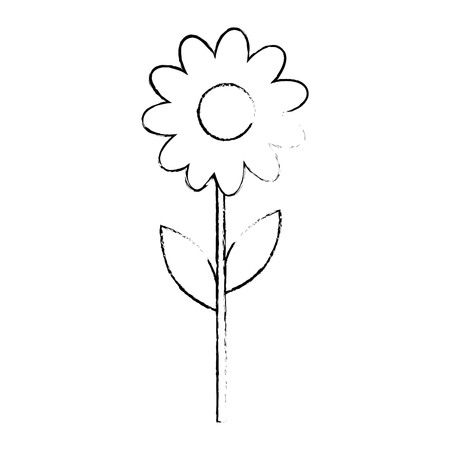 Beautiful sunflower gardening icon vector illustration graphic design Ilustração