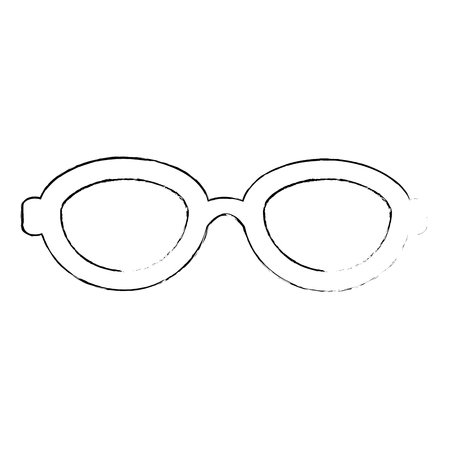 Fashion glasses isolated icon vector illustration graphic design