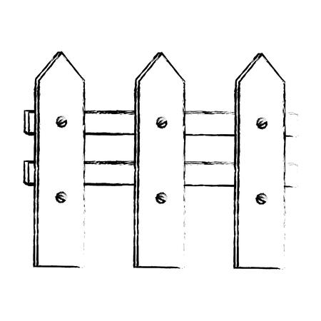 Clôture en bois jardinage icône illustration conception graphique Banque d'images - 83826948