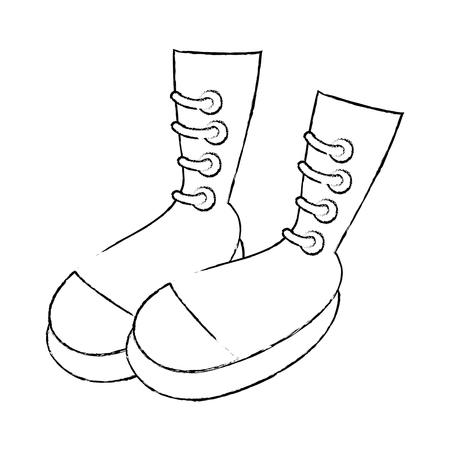 Frauenmode lädt Ikonenvektor-Illustrationsgrafikdesign auf Standard-Bild - 83827631