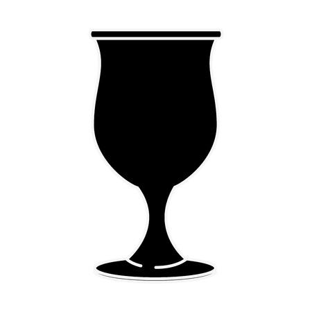 Vector de illustratie grafisch ontwerp van het glaskop geïsoleerd pictogram
