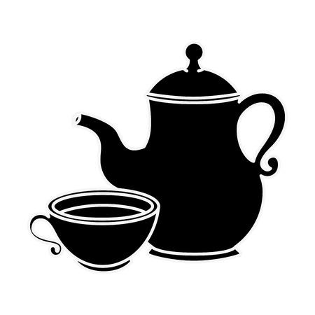 Cute teapot kitchenware icon vector illustration graphic design
