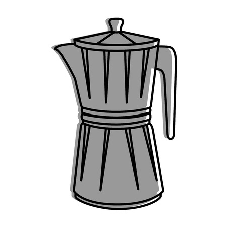 Kettle kitchenware utensil icon vector illustration graphic design