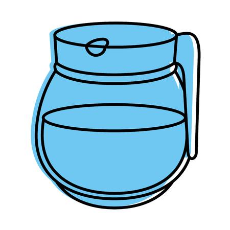 Kettle kitchenware utensil icon vector illustration graphic design
