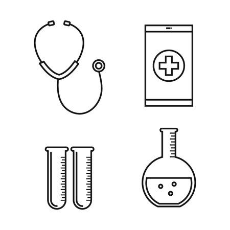 medical equipment supplies healthcare icons set vector illustration Stock fotó - 83853499
