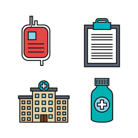 medical equipment supplies healthcare icons set vector illustration