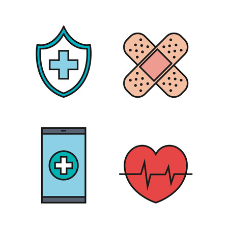 medical equipment supplies healthcare icons set vector illustration Stock fotó - 83853510