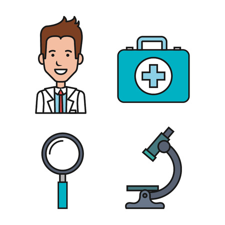 medical equipment supplies healthcare icons set vector illustration Zdjęcie Seryjne - 83853511