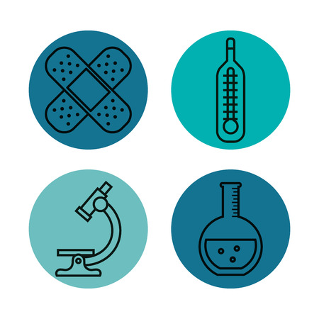 medical equipment supplies healthcare icons set vector illustration Stock fotó - 83853591