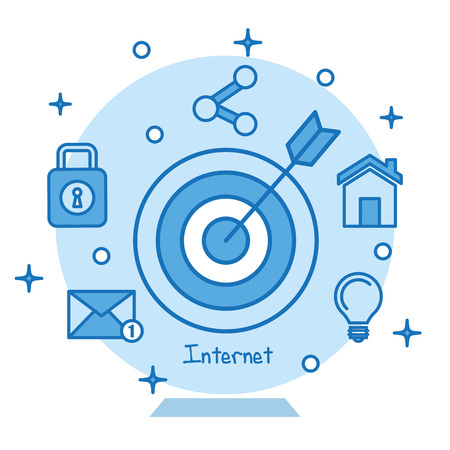 target icon concentric aiming marketing business internet concept vector illustration Stock Illustration - 83867960