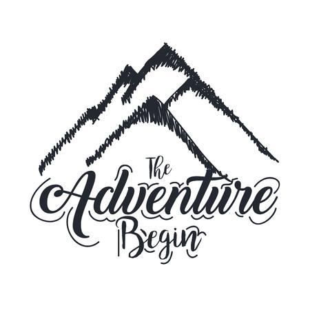 vintage adventure label design outdoor activity symbol vector illustration