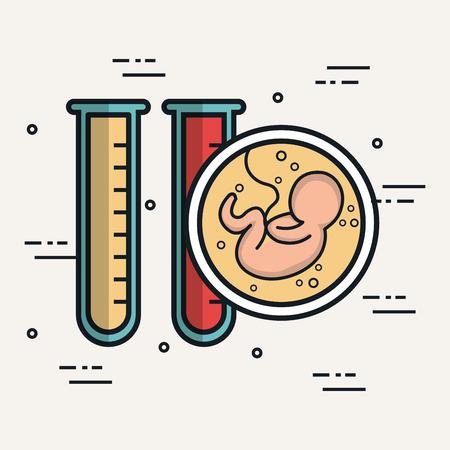 baby reageerbuizen biologie anatomie vector illustratie Stock Illustratie