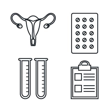 妊娠出産医療機器要素医療ベクトル図