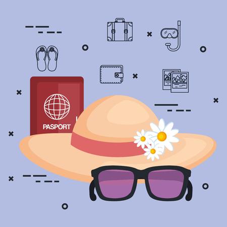 休暇旅行のリラックス観光デスティネーション ベクトル図をお楽しみください