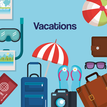 vacations travel relax enjoy tourism destination vector illustration 向量圖像