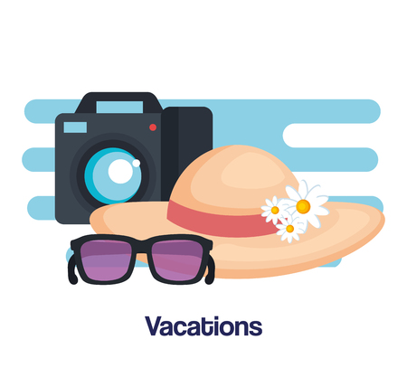 vacations travel relax enjoy tourism destination vector illustration Ilustração