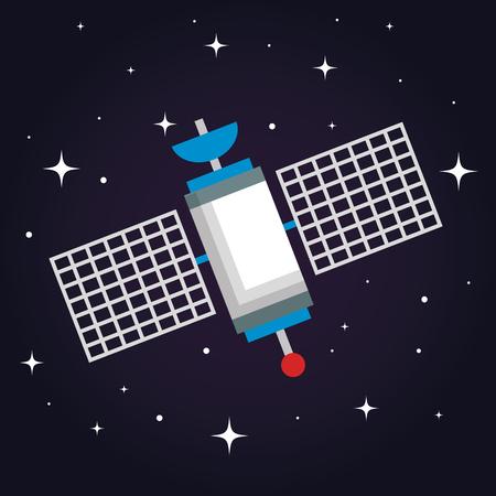 衛星無線技術通信世界グローバル ネット ベクトル図  イラスト・ベクター素材