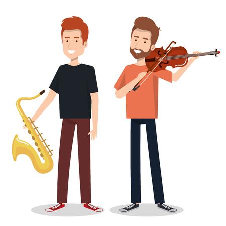 ミュージシャンや楽器コンサート エンターテイメント ベクトル図