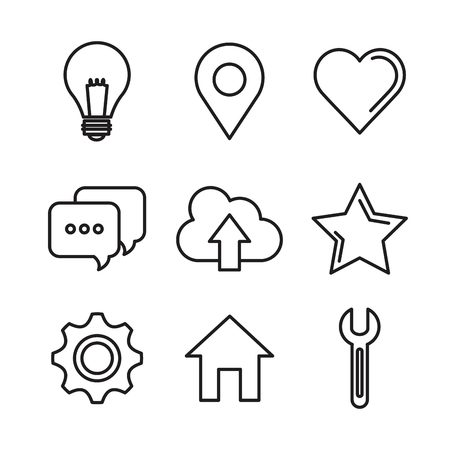 社会的なメディア ネットワーク通信概要アイコン ベクトル イラスト  イラスト・ベクター素材