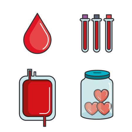 liefdadigheid en schenking geven en delen je liefde met arme mensen vectorillustratie Stock Illustratie