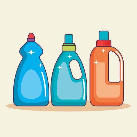 ベクトル図を洗浄するための洗剤容器のセット