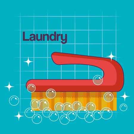 ブラシ ランドリー乾燥機国内要素テンプレート デザイン ベクトル図  イラスト・ベクター素材