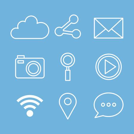 social media web applications internet icons vector illustration