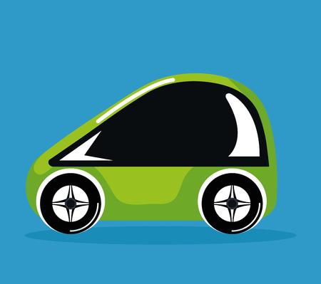 future car vehicle technology smart automatic vector illustration