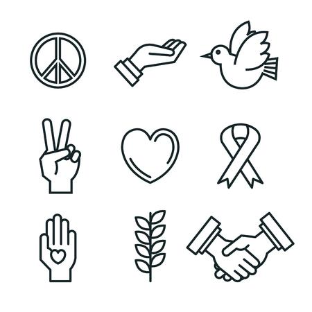 Símbolos Paz Para La Paz Internacional Día Iconos