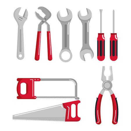 set building construction and home repair tools  illustration 向量圖像
