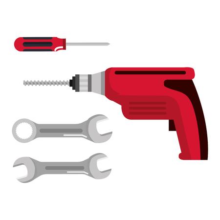 Définir la construction de bâtiments et outils de réparation de la maison illustration vectorielle Banque d'images - 83871302