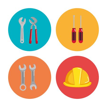 set bouwconstructie en huis reparatie gereedschap vector illustratie