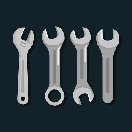 ツール修理サポート機器作業オブジェクト ベクター イラスト  イラスト・ベクター素材