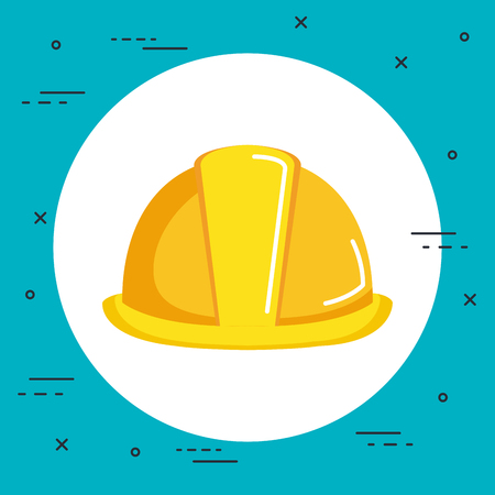 construction helmet icon hard hat builder protection vector illustration Zdjęcie Seryjne - 83871315
