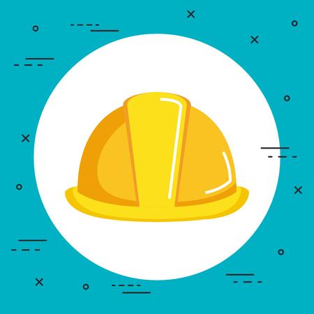 construction helmet icon hard hat builder protection vector illustration Illustration
