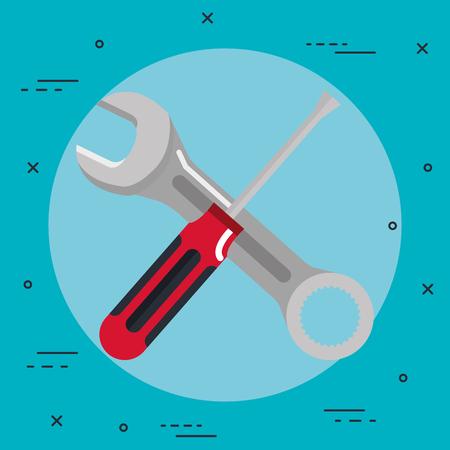 Outils réparation outils construction rénovation icônes illustration simpliste Banque d'images - 83871080