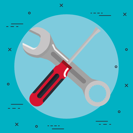 tools repair support construction renovation icons vctor illustration Çizim
