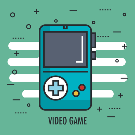 game portable switch console with gamepad vector illustration 向量圖像