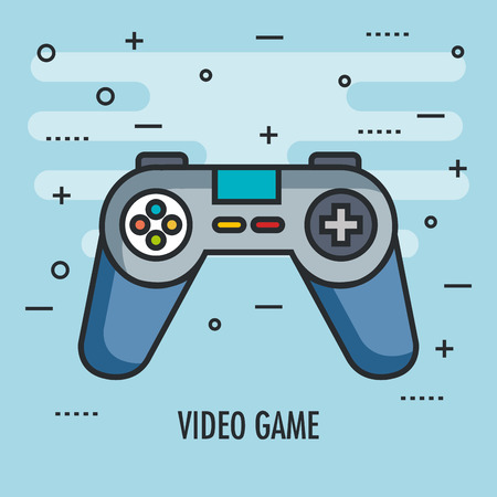 gamepad control console for video game device digital vector illustration