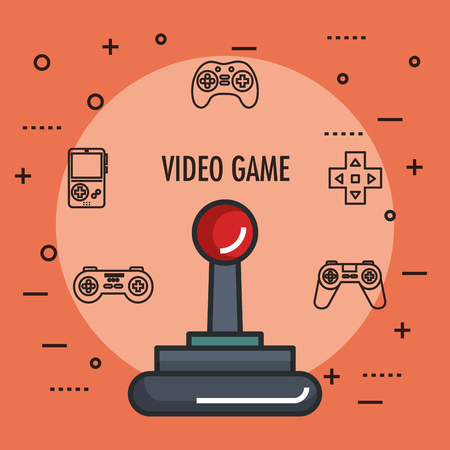 joystick gamepad icon video game controller symbol vector illustration Illustration
