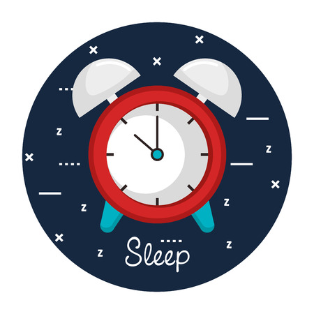 clock with time for sleep vector illustration Illustration