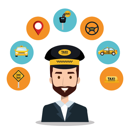 call center operator taxi service app cartoon vector illustration 版權商用圖片 - 83893675