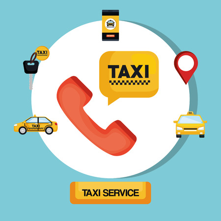taxi service transport public app vector illustration Illustration