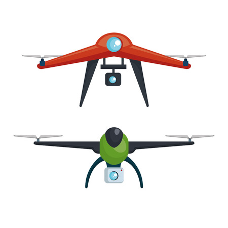 drone photography and video created with camera vector illustration Illustration
