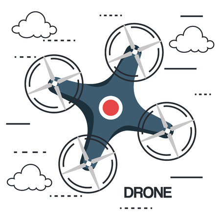 drone photography and video created with camera vector illustration 向量圖像