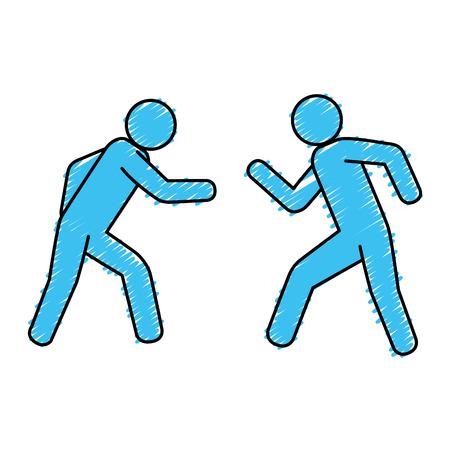 basic figure: players figures silhouettes icon vector illustration design Illustration