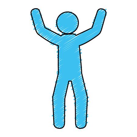 basic figure: human figure silhouette icon vector illustration design